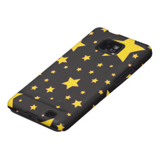 O amarelo stars a caixa da galáxia de Samsung Capa Galaxy SII