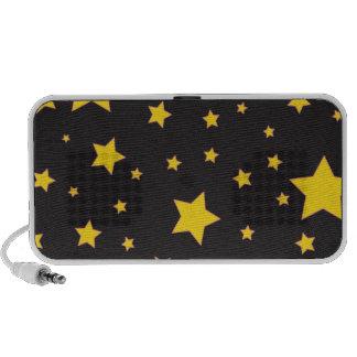 o amarelo stars o auto-falante caixinha de som portátil