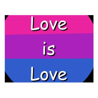 O amor bissexual do orgulho da consciência é cartão postal