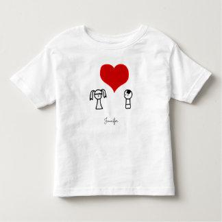O amor bonito do menino e da menina doodle a tshirts