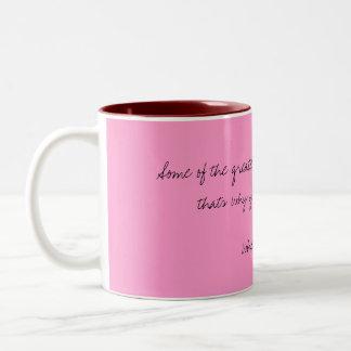 O amor cita a caneca de café