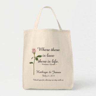 O amor cita o rosa do rosa de w, Wedding as bolsas