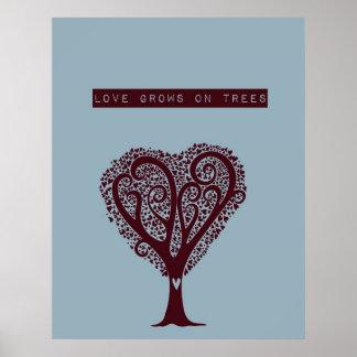 O amor cresce em árvores posteres