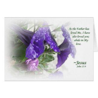 O amor do deus da parte cartão comemorativo