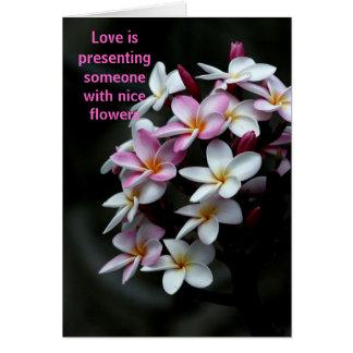 O amor é cartão comemorativo