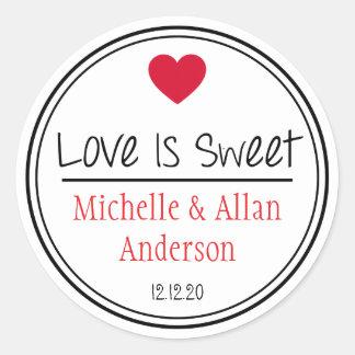 O amor é doce o Sr. & a Sra. novos Adesivo