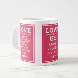 O amor é… nomes feitos sob encomenda & caneca do