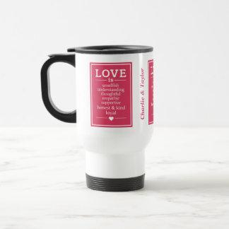 O amor é… nomes feitos sob encomenda & canecas da