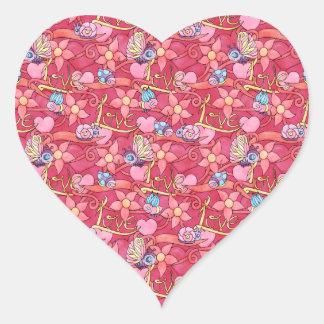 O amor é para algumas etiquetas do coração do dia adesivo coração
