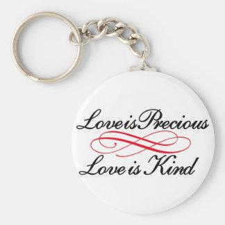 O amor é precioso chaveiro