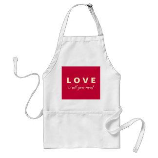 O amor é tudo que você precisa o avental do assado