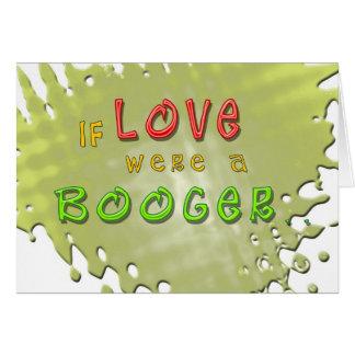 O amor é um cartão engraçado do Booger
