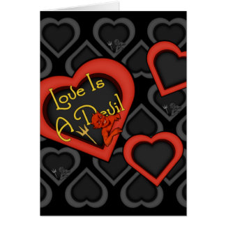 O amor é uma mistura do diabo cartão