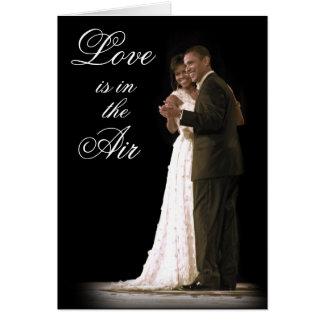O amor está no ar, primeira família, casal cartões