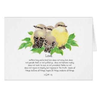 O amor está núcleo da escritura: 13 Kingbirds de Cartão