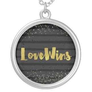 O amor ganha o orgulho de LGBT Colar Banhado A Prata