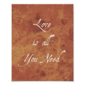 O amor inspirado do impressão das citações é