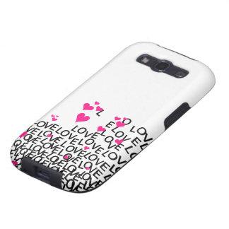 O amor Samsung do dia dos namorados encaixota Galaxy SIII Capa