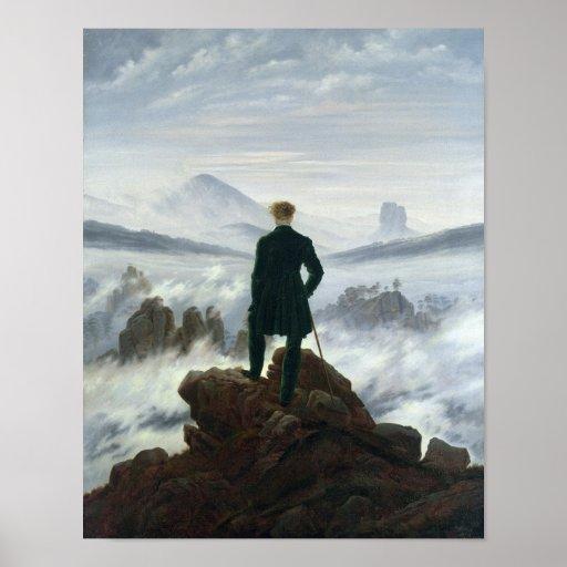 O andarilho acima do mar da névoa, 1818 posteres