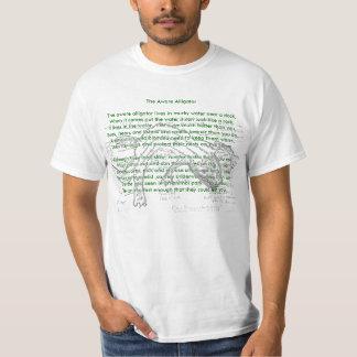 O animal rima jacaré ciente do _The da camisa. Camiseta