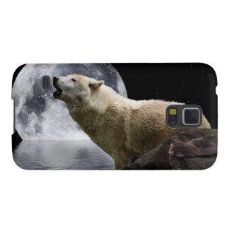 O animal selvagem Samsung da lua do lobo do urro Capinhas Galaxy S5