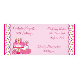 O aniversário Candles o convite