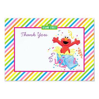 O aniversário da menina de Elmo Convite 8.89 X 12.7cm