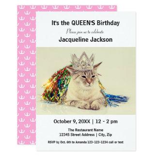 O aniversário da rainha - convite do aniversário