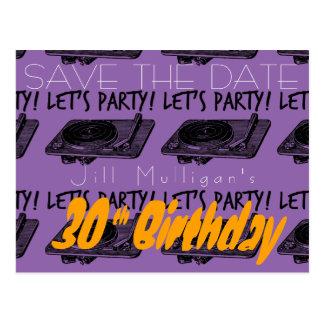 O aniversário de 30 anos 60s deixou-nos Party Cartão Postal