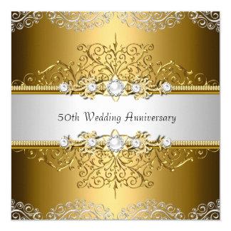 O aniversário de casamento floral do redemoinho convite quadrado 13.35 x 13.35cm