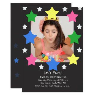 O aniversário de criança Stars o convite de festas