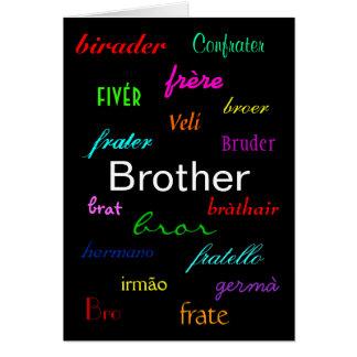 """""""O aniversário de um irmão eu"""" cardo - Cartão Comemorativo"""