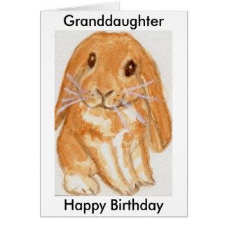 O aniversário do coelho do neto da neta cartão comemorativo