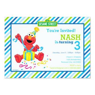 O aniversário do menino de Elmo Convite 12.7 X 17.78cm