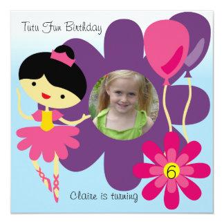 O aniversário feito sob encomenda da bailarina do convites personalizado