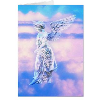 O anjo do céu cartao