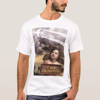 O anjo em Madonna de Foligno considera o tshirt