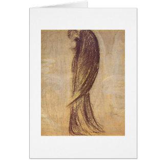 O anjo por M.K. Ciurlionis, 1904-5 Cartão Comemorativo