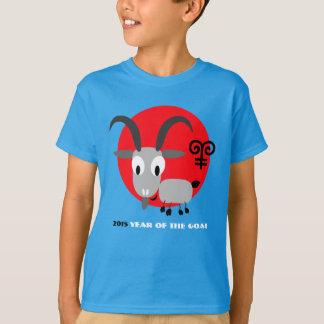 O ano chinês do presente da cabra caçoa t-shirt