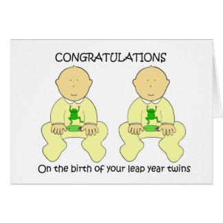 O ano de pulo junta felicitações cartão comemorativo