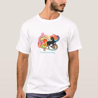 O ano do t-shirt do branco do cavalo