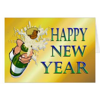 O ano novo de Champagne Cartão Comemorativo
