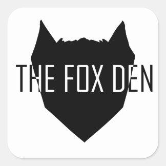 """""""O antro do Fox """" Adesivo Quadrado"""