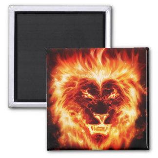 O antro do leão grava ímãs ímã quadrado