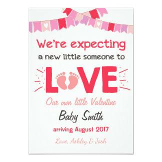 O anúncio da gravidez dos namorados revela o creme convite 12.7 x 17.78cm