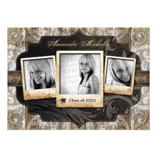O anúncio personalizado da graduação da foto convi convites personalizado