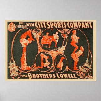 O anúncio publicitário de Irmãos Lowell Esportes Pôster