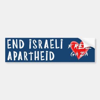 O Apartheid israelita do fim livra Gaza Adesivo Para Carro