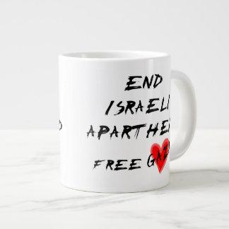 O Apartheid israelita do fim livra Gaza Caneca De Café Grande