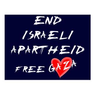 O Apartheid israelita do fim livra Gaza Cartão Postal